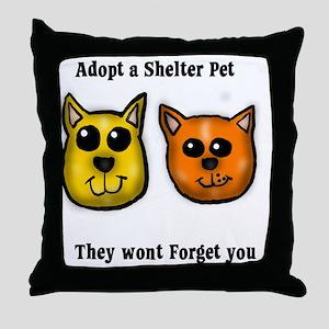 Shelter Pets Throw Pillow
