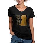 Sandstone for Granite Women's V-Neck Dark T-Shirt