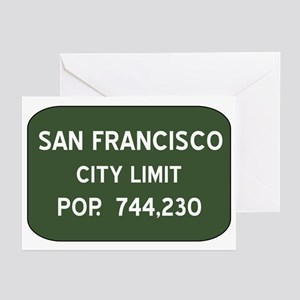"""San Francisco City Limits Greeting Cards (Package"