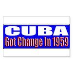 Change 1959 Rectangle Sticker