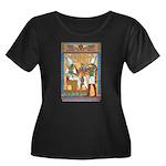 Osiris,Pharoah,Horus Women's Plus Size Scoop Neck