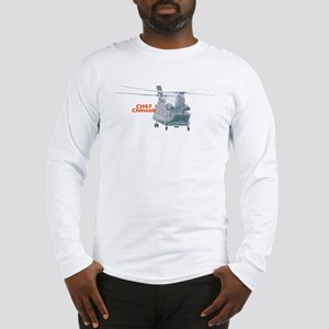 Chinook Helicopter Long Sleeve T-Shirt