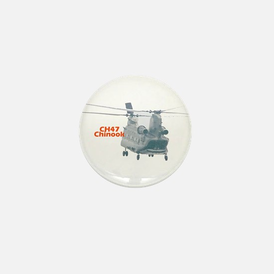 Chinook Helicopter Mini Button