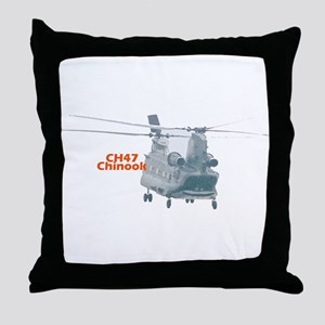 Chinook Helicopter Throw Pillow