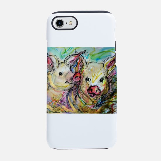 piglets, pig pair iPhone 7 Tough Case