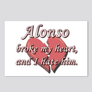 Alonso broke my heart and I hate him Postcards (Pa
