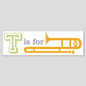 Tis for Trombone Bumper Sticker