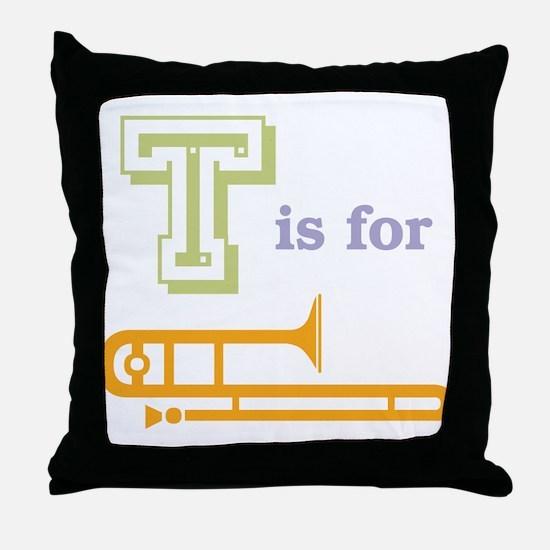 Tis for Trombone Throw Pillow