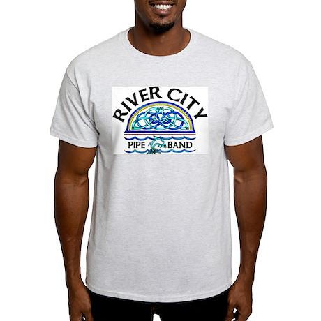 River City Pipe Band Logo Ash Grey T-Shirt