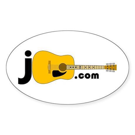JGuitar.com Oval Sticker