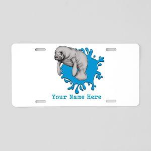 Mantee Art Aluminum License Plate