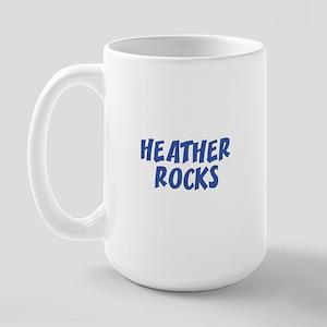 HEATHER ROCKS Large Mug