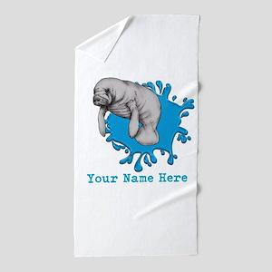 Mantee Art Beach Towel