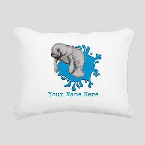 Mantee Art Rectangular Canvas Pillow