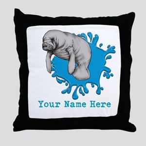 Mantee Art Throw Pillow