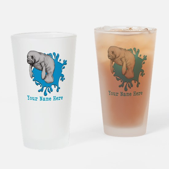 Mantee Art Drinking Glass