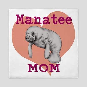 Manatee Mom Queen Duvet