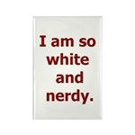 I am so white and nerdy. Rectangle Magnet (10 pack