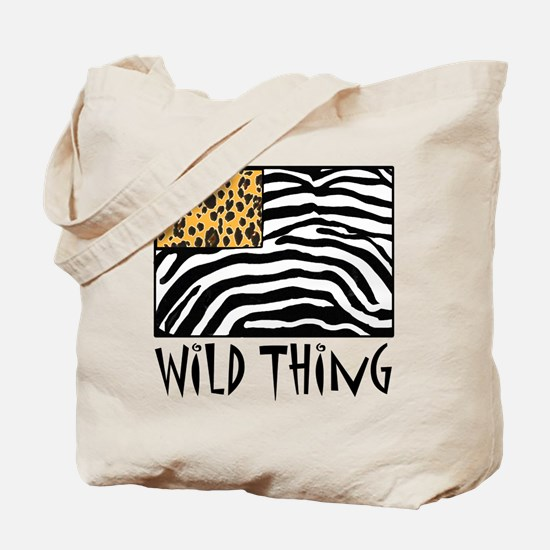 Cheetah & Zebra Wild Thing Tote Bag
