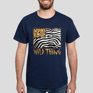 Cheetah & Zebra Wild Thing Dark T-Shirt