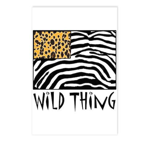 Cheetah & Zebra Wild Thing Postcards (Package of 8