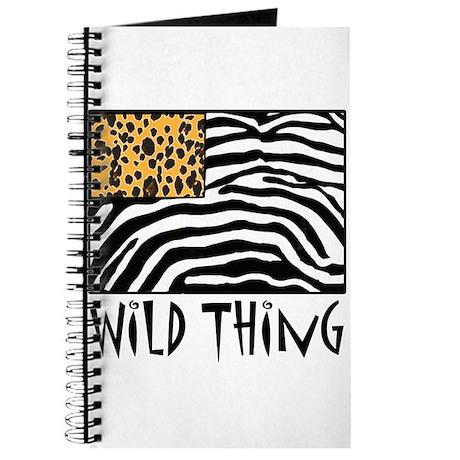 Cheetah & Zebra Wild Thing Journal