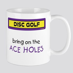 Bring on the Ace Holes Mug (Yellow and Purple)