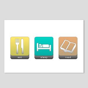 Eat, Sleep, Read Postcards (Package of 8)