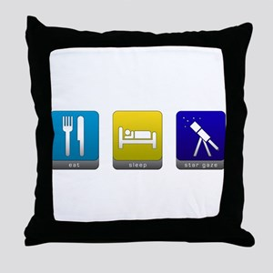 Eat, Sleep, Stargaze Throw Pillow