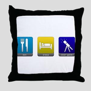 Eat, Sleep, Stargaze Throw Pillow