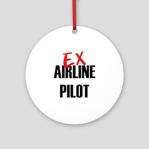 Ex Airline Pilot Ornament (Round)