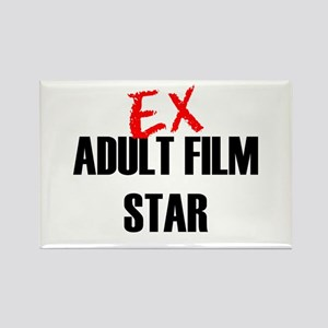 Ex Adult Film Star Rectangle Magnet
