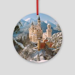 Neuschwanstein Castle Ornament (Round)