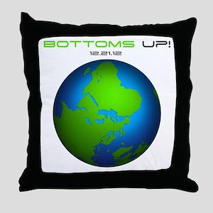 Bottoms Up Big Globe Throw Pillow