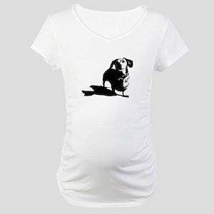 daschund sketch Maternity T-Shirt