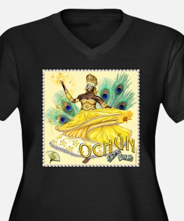 Ochun (Oshun) Women's Plus Size V-Neck Dark T-Shir