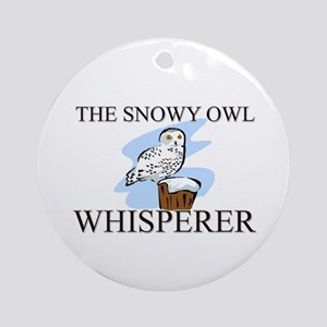 The Snowy Owl Whisperer Ornament (Round)