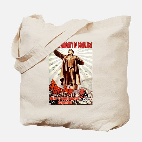 communist obama Tote Bag
