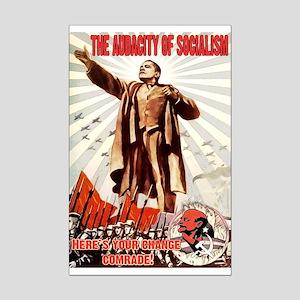 communist obama Mini Poster Print
