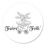 Faire-Folk (R) Logo Round Car Magnet