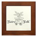 Faire-Folk (R) Logo Framed Tile