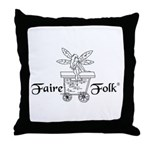 Faire-Folk (R) Logo Throw Pillow