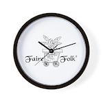 Faire-Folk (R) Logo Wall Clock