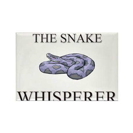 The Snake Whisperer Rectangle Magnet