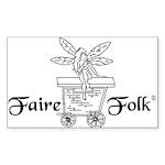 Faire-Folk (R) Logo Sticker