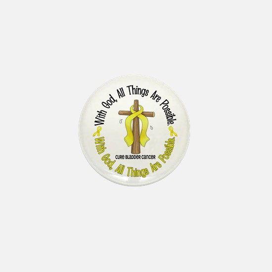With God Cross BLADDER CANCER Mini Button
