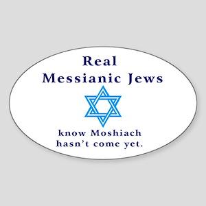 Real Messianic Jews Oval Sticker