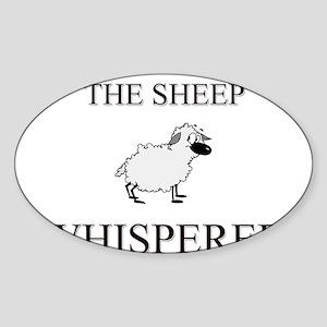 The Sheep Whisperer Oval Sticker