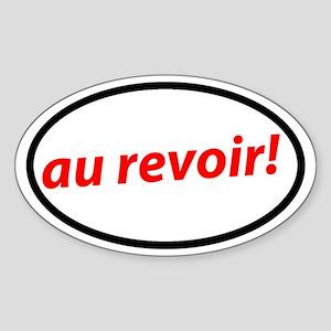Au revoir! French Sticker