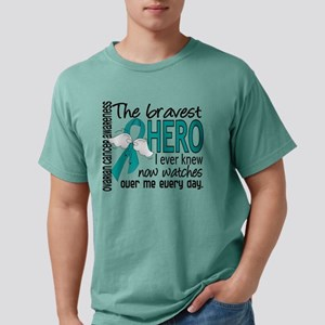 Bravest Hero I Knew Ovarian Cancer T-Shirt